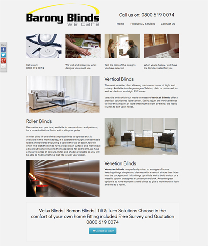 blind company website