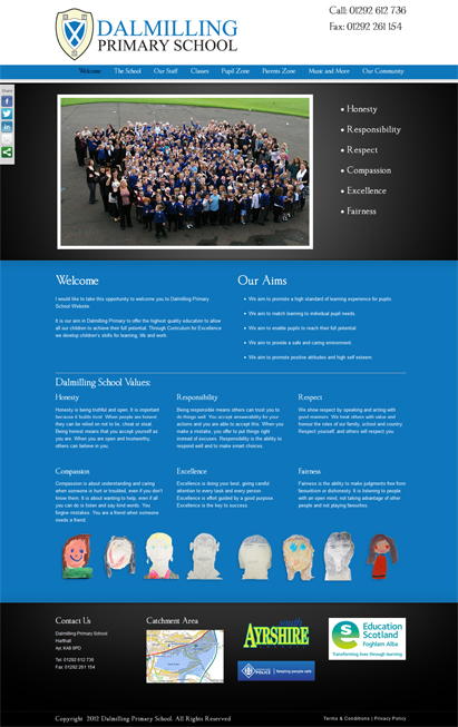 dalmilling primary school website